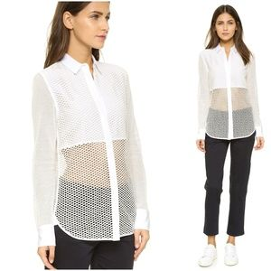 Rag & Bone Luna Mesh Silk Blouse